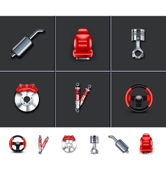Car parts 2 vector image