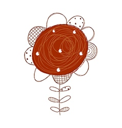 A growing flower vector image vector image