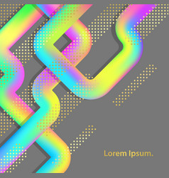 Abstract colorful poster with holographic lines vector