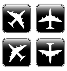 Airplane buttons set vector image vector image