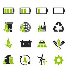 Alternative energy icons vector