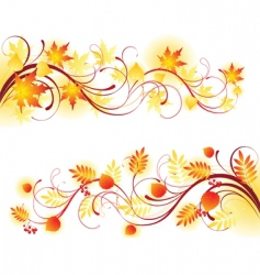 autumn banners2 vector image vector image
