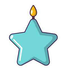 candle star icon cartoon style vector image