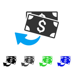 Cashback flat icon vector