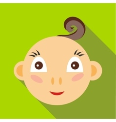 Cute baby boy icon flat style vector