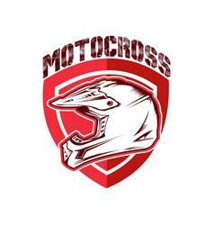 design motocross racing helmet vector image vector image