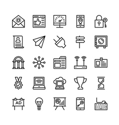 Digital marketing icons 7 vector
