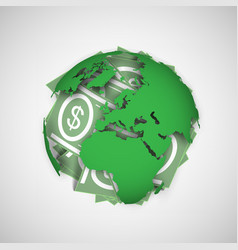 Earth and money vector