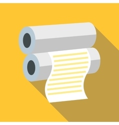 Fax paper icon flat style vector image vector image