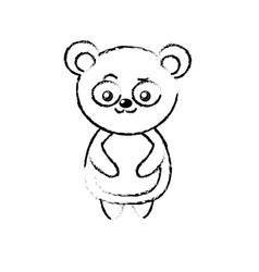 figure beautiful cute animals with expression face vector image vector image