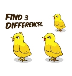 Find differences game chicken vector image vector image