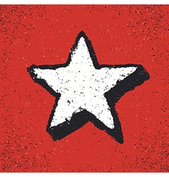 Five-pointed star grunge icon Star Geometr vector image