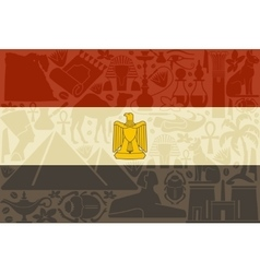 Flag of Egypt vector image