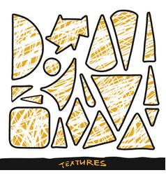 geometric shape textures set design elements vector image vector image