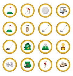 Golf cartoon icon circle vector