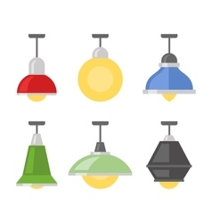 Lamps Set on White Background vector image vector image