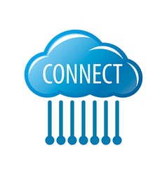 Logo connect cloud chip vector
