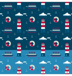 Marine pattern northern seas vector