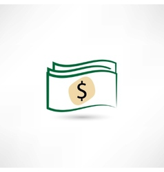 paper money icon vector image vector image