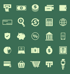 payment color icons on green background vector image