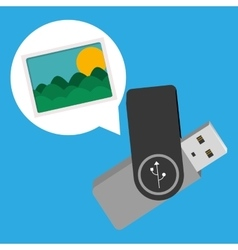 pen drive design vector image vector image