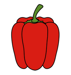 pepper fresh vegetable icon vector image vector image