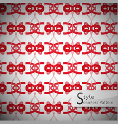 Red bow ribbon geometric seamless pattern vector