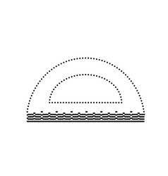 Ruler sign black dotted icon vector