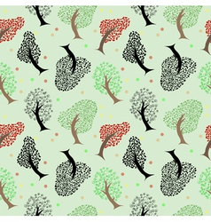 Seamless tree pattern background vector image vector image