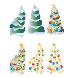 Snowy Christmas Tree2 vector image