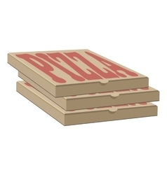 Stock design of three boxes for pizza box vector