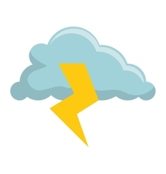storm electric isolated icon vector image