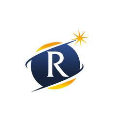 swoosh logo letter r vector image vector image