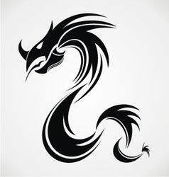 Tribal dragon vector