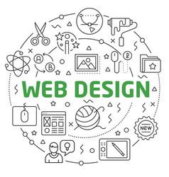 web design linear slide for the vector image