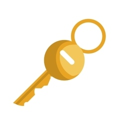 key hotel gold isolated icon vector image