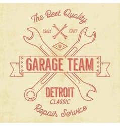 Garage service vintage tee design graphics vector image