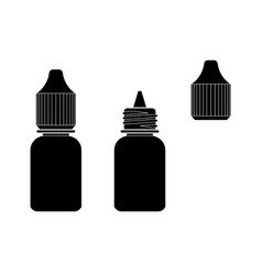 Eye drop bottle isolate on white background vector