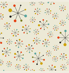 abstract mid century space pattern vector image