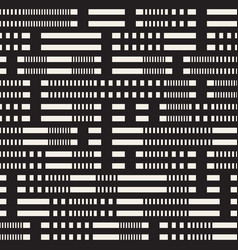 Black and white irregular dashed lines pattern vector