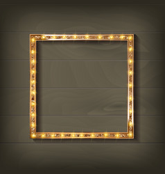 Square glowing frame vector