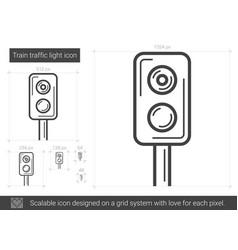 train traffic light line icon vector image