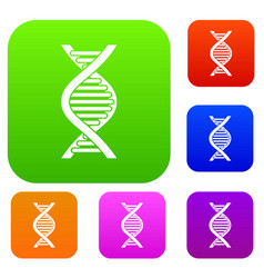 dna strand set collection vector image