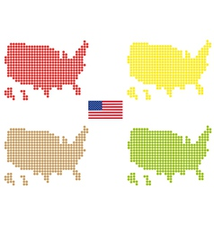 Usa maps vector