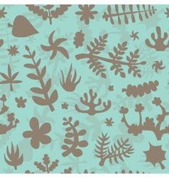Hand drawn doodle plants background vector image