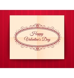 Valentines day typography vector