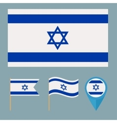 Israel icons for design country vector