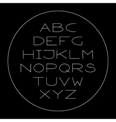 Thin lined modern alphabet vector