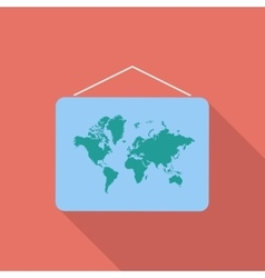 Map flat icon vector