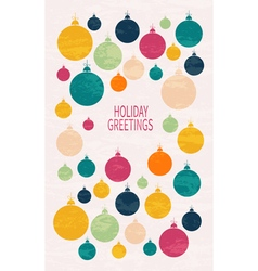 Card with christmas ball vector